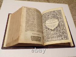 1622-KJV Bible-Fine Binding-Complete Text-Roman Font-With Psalms in Meeter-RARE
