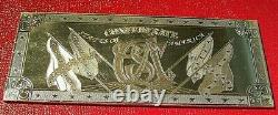 1861 $50 Confederate States Note 8 Troy oz. Proof-like. 999 Fine Silver RARE