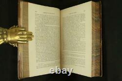 1866 History Of The Romans by Merivale Fine Leather Bindings Rare Lg Foldout Map