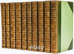 1905 Novels of the Bronte Sisters Dulac Color Plates Fine Leather Binding Rare