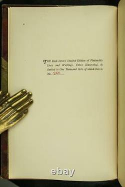 1909 Plutarch's Lives & Writings Limited Edition Fine Leather Illustrated Rare