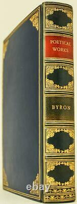 1935 Poetical Works of Lord Byron Fine Leather Bound by Riviere Rare