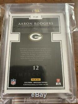 2016 Impeccable Aaron Rodgers 1 Ounce Fine. 999 Silver Bar # 1/15 Rare Sp 1 Of 1