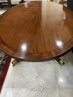 A Rare Find Vintage Oval Duncan Phyfe Mahogany Coffee Table On Fine Pedestal