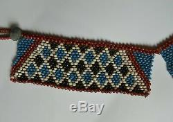 African tribal fine rare antique Zulu bead work necklace South Africa