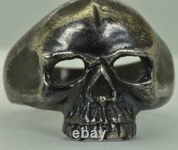 Antique WWI Imperial Russian Army pilot's Ace Skull 84 silver ring c1916. RARE