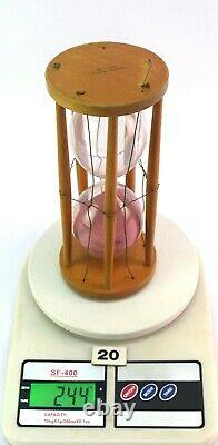 Antique Wood Hourglass Sand Timer Fine Collectible Rare Maritime Clock G20-6 US
