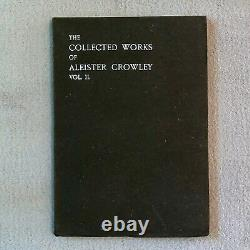 COLLECTED WORKS OF ALEISTER CROWLEY 1st Ed 1905-1907 Occult Magick Fine RARE