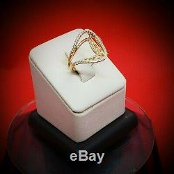 Collectible Rare Vintage Designer Original Solid Gold Diamond Ring Band Size 7.5