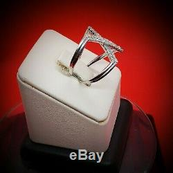 Collectible Rare Vintage Solid Original White Gold Diamond Ring Band Size 7.5