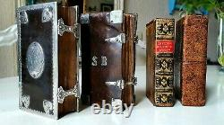 Collection old & rare Bibles in fine bindings & silver 17th & 18th century