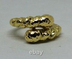 David Webb 18k Hammered Coil Ring Vintage 90s with Original Case and Box Rare