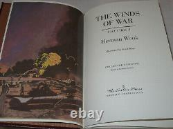 EASTON PRESS 2V THE WINDS OF WAR Herman Wouk 1992 1ST LEATHER SET FINE VERY RARE
