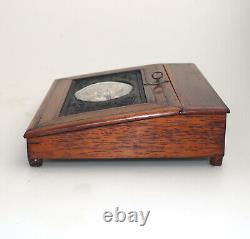 Extremely rare & fine antique rosewood Lap Desk & fittings Palais Royal C. 19thC