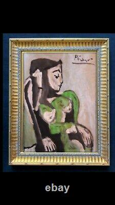 FINE ART PAINTING CUBISM ON PAPER, Picasso RARE Gouache COLLECTION