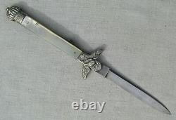 FINE RARE & EARLY 1830's SHEFFIELD MOTHER OF PEARL FEDERAL EAGLE LOCK BACK DIRK