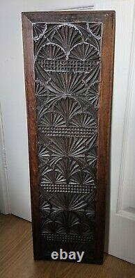 Fine Rare 17th Century Chip Carved Walnut Panel