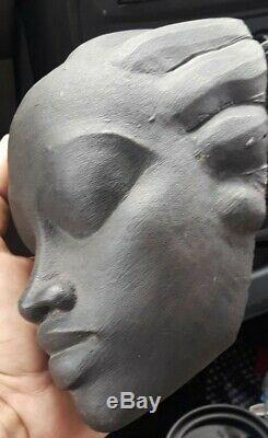 GENE PEARSON Sculpture Mask Jamaican Fine Arts Original RARE Collectors Exce