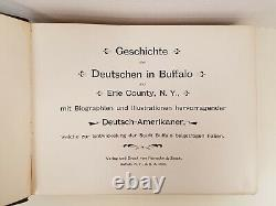 History of the Germans of Buffalo & Erie County 1898 1st Fine Binding VERY RARE