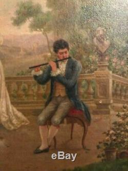 Louis Doret Beautiful & Rare Matching Pair 19thC Finely Done Oil Paintings