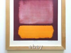Mark Rothko Rare 1971 Framed Collector Fine Art Lithograph Print Untitled 1962