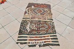 Marvelous Antique Rare Awesome Collector's Piece Anatolian Fragment Kilim Rug
