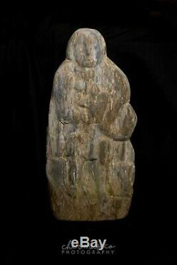 Micronesia-Oceania Rare Hand Carved Stone Figural 1000-1500 AD Fine Detail
