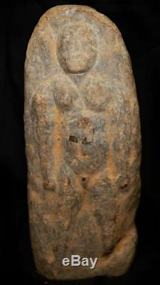 Micronesia-Oceania Rare Hand Carved Stone Warrior 1000-1500 AD Fine Detail