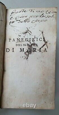 Old & rare Italian book in fine binding with Bishop's coat of arms -1699