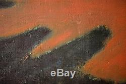 Per Damm Original Abstract Oil Painting on Canvas, 1973 Outstanding, Rare & FINE