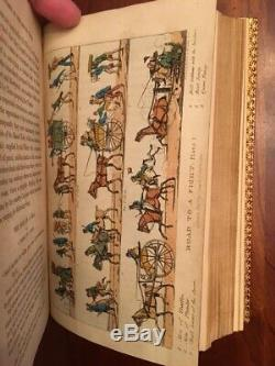 RARE 1821-1822 Real Life in London, Aiken, 32 Hand-Coloured PLATES, Fine Binding