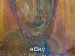 RARE LISTED ARTIST ABSTRACT PORTRAIT painting Dr. BENJAMIN L. Gross fine art