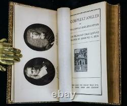 Rare 1931 The Compleat Angler Fine Leather Binding by Riviere Illustrated