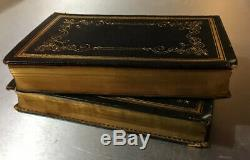 Rare Early 1840 Night Before Christmas Moore Poem Fine Decorative Binding 2 Vols
