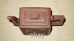 Rare Fine Antique Yixing Terracotta Clay Chinese Teapot Pottery Redware Signed