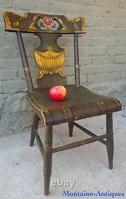 Rare Pennsylvania Child's Chair with Fine Paintwork c. 1835