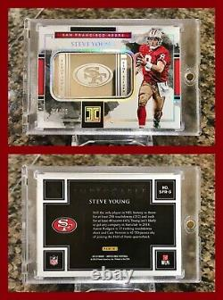 Rare Steve Young 2018 Impeccable 1 Troy Ounce. 999 Fine Silver 4/15 49ers Hof