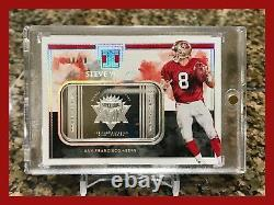 Rare Steve Young 2019 Impeccable 1 Troy Ounce Fine Silver 18/20 49ers Sbxxix Mvp