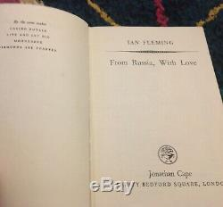 Rare TRUE FIRST EDITION From Russia With Love 1957 N FINE Ian Fleming JAMES BOND