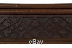 Rare and Fine English Chippendale Carved Mahogany Antique Card Table, circa 1770