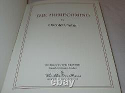 SIGNED FIRST EDITION Easton Press THE HOMECOMING Harold Pinter LEATHER FINE RARE