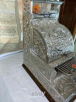 STUNNING & VERY RARE Old Mdl12 Fine Scroll Nat'l Brass Candy Store Cash Register