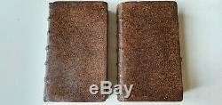 Two rare books from 1711 in fine gilded bindings with 119 engravings of Saints