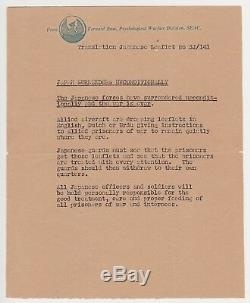 Ww2 USA Leaflet Dropped On Allied Prisoner Camps 1945 Very Rare Very Fine