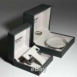 YSL Jewellery Set Solid Sterling Silver Argent Collection Original Boxes Rare