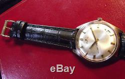 Zenith Star Fine Rare Vintage Cal. 2542 Beautiful Original Dial And Gold Index